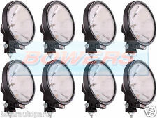 "8 x SIM 3227 12V/24V 9"" ROUND SPOTLIGHTS SPOTLAMPS CAB TOP BAR TRUCK LORRY 4x4"