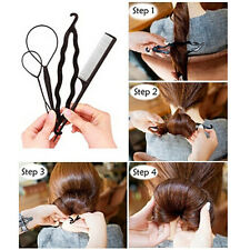 1Set Hairpins Hair Clips for Women Bun Maker Pads Roller Braids Hair Twist Magic