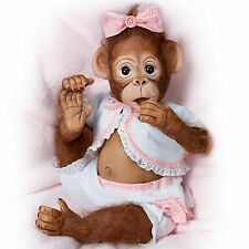 Cute as a Button Ashton Drake Monkey Doll by Cindy Sales 16 inches