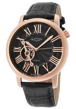NEW RotarY GLE000020-10 Open Heart Skeleton  Automatic ROSE Gold Ret$995