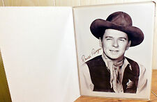 "Beautiful B&W Photo 8.5"" x11"" of Ronald Reagan Movie Shot printed with Signature"