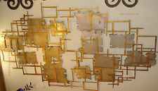 DAZZLE ABSTRACT WALL ART GOLD PLATINUM