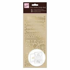 Anitas Outline Stickers - Verses - Happy Birthday - Gold for cards/crafts