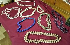 LOT OF VINTAGE COSTUME JEWELRY NECKLACES LOT 1 NR
