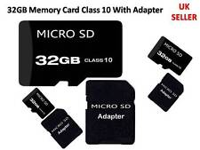 32GB Memory Card Micro SD Class 10 Free Adapter For Samsung Galaxy S5 S6 Edge UK