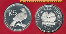 Papua N. Guinea Papouasie N. Guinée - 5 Kina 1979 PROOF FDC Argent 2728 Exempl