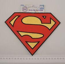 Patch Superman originale ricamata grande supereroi toppa termoadesiva cm20x15