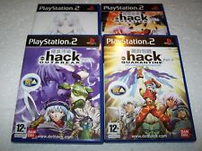 .HACK 1, 2, 3, 4 - Playstation 2 PS2 - UK PAL All 2 Disc Versions & Complete RPG