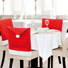 1pcs Santa Clause Red Hat Chair Back Cover Christmas Dinner Festival Decor Cozy