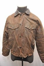 BARBOUR OF SOUTH SHIELDS A1557 DROVERS WAX COTTON JACKET BROWN MEDIUM FP63