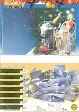 Decadry SPZ-2077 Christmas & Champagne Theme Cards Make Your Own Christmas Cards