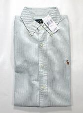 NWT Ralph Lauren Polo Mens Long Sleeve Dress Shirt CLASSIC FIT Sz Medium Green S