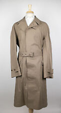 New. RALPH LAUREN PURPLE LABEL Brown Cotton Blend Trench Rain Coat Size M $3295