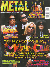 METAL SHOCK 240 1997 Mötley Crüe Fates Warning Death SS Deep Purple Udo Winger
