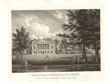 the seats of nobility & gentry 1787 -1815 engraving -  gunnersbury house