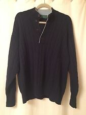 Doriani Milano Men's 100% Cashmere Cable Knit Navy Jumper Sweater Size 48/ US XL
