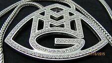 """MMG Maybach Music Group Pendant with 36"""" Silver Tone Franco Chain Hip Hop"""