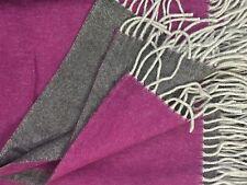 Wollplaid doppelseitig mit Kaschmir Anteil, Sofadecke 130x175  cm 100% Wolle