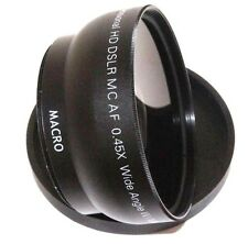 HD Wide Angle with Macro Lens for Canon 55-250mm Lens