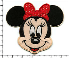 "5 Pcs Embroidered Iron/Sew on patches Minnie Mouse Red Bow 5.9""x5.2"" AP032bB"