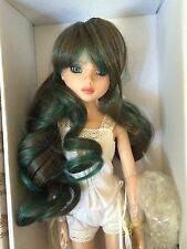 MSD BJD Long Curly Brown & Green wig size 6-7 - fits Ellowyne Evangeline