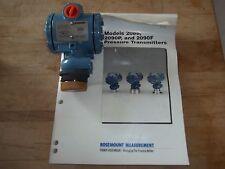 "NEW IN BOX ROSEMOUNT 2090PG1A22A1E5 PULP & PAPER PRESSURE TRANSMITTER 1/2"" PORTS"