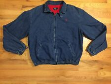VTG POLO RALPH LAUREN DENIM JACKET LINED LARGE EUC