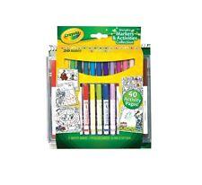 Crayola SET ATTIVITA' E PENNARELLI LAVABILI 40PAGINE X COLORARE E CREARE 4+