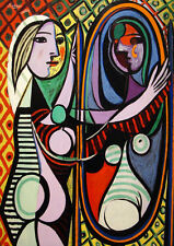 PABLO PICASSO * QUALITY CANVAS ART PRINT * Girl Before A Mirror