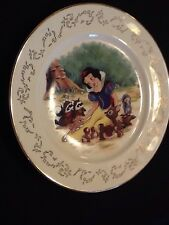 Lenox Walt Disney Snow White And Her Friends Dessert Plate