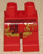 LEGO NEW RED NINJAGO LEGS KAI DX ZX MINIFIG PANTS WITH LIGHTNING PATTERN