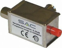 Coax TV Aerial Attenuator Variable 0-20Db  Freeview Reduce Signal Level