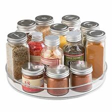 mDesign Lazy Susan Turntable Spice Organizer for Kitchen Pantry, Cabinet, -