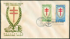1960 50th ANNIVERSARY PHILIPPINE TUBERCULOSIS SOCIETY First Day Cover