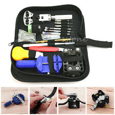 144 Pcs Watch Repair Tool Opener Link Remover Spring Bar Pins Carrying Case Kit