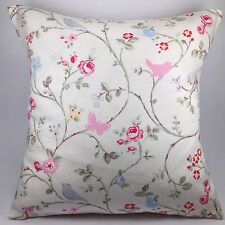 "Clarke and Clarke Bird Trail Grey Flower Bird Butterfly 16"" Cushion Cover"