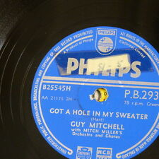 78rpm GUY MITCHELL got a hole in my sweater / bob`s yer uncle