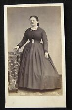 ORIGINAL CABINET PHOTO GUILLERMAIN ROMANS VICTORIAN LADY DRESS FRANCE CIRCA 1880