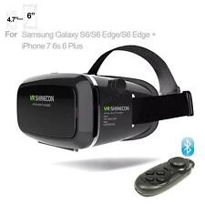 """VR Shinecon Virtual Reality 3D Movie Game Glasses For iPhone 7 Samsung 4.7"""" ~ 6"""""""