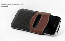 REAL HOCO Straight Pocket leather case for IPHONE 4/4S BLACK/BROWN H227
