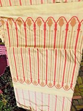 VINTAGE 1970's QUEEN SIZE YELLOW AND ORANGE STRIPE SHEETS FLAT AND FITTED