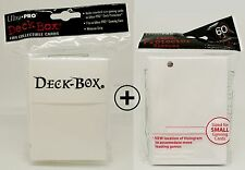 Ultra pro Deck box + 60 Deck protector sleeves-blanco