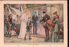 Ecole Libre Anges Ecoliers Free School Schoolchildren 1937 France ILLUSTRATION