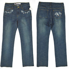 NWT DISNEY Store Womens Med. Wash ALICE Straight Leg Jeans STRETCH ~ Sz 2