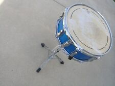 Vintage Ludwig 1965 1966 Blue Sparkle Jazz Festival ? Snare Drum & Pearl Stand