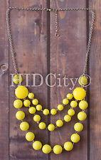 NEW Three Layers Bubble Necklace Multi Color Crew Bib Statement Fashion US