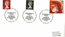 16 JULY 1993 ROMAN BRITAIN COVER HADRIANS WALL DESIGNATION SHS