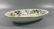 WEDGWOOD HATHAWAY ROSE OVAL OPEN SERVING DISH 25.3CM X 18.8CM