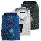 BRAND NEW LUXURY ITALIAN SHIRT 3 Colors All Sizes Available Dotted Pattern Polka