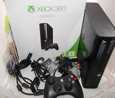 Xbox 360 Go Console Bundle - 250gb Go Controller leads Boxed - 2 pads Game